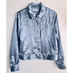 Urban outfitter satin jacket women size M
